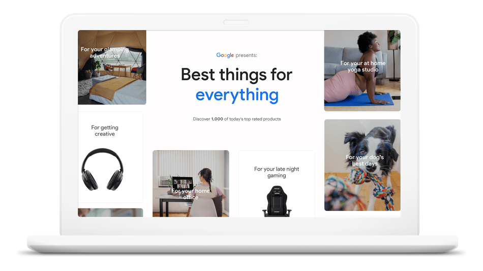 Google just launched a shopping guide featuring 1,000 products