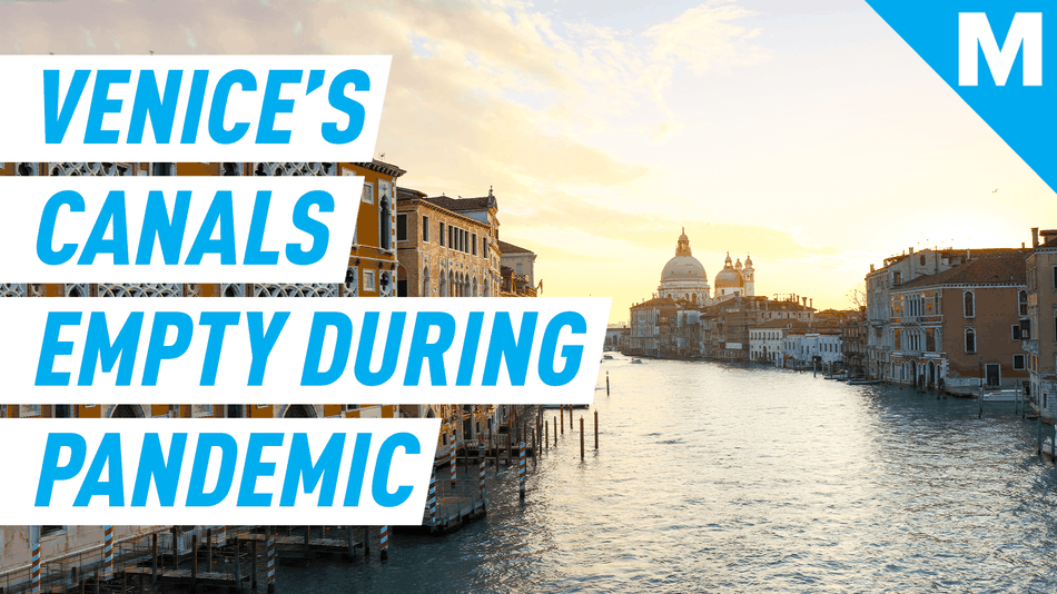 Venice's canals are eerily empty during coronavirus pandemic