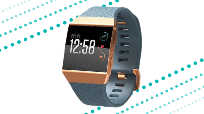Track your workout with Fitbit Ionic.