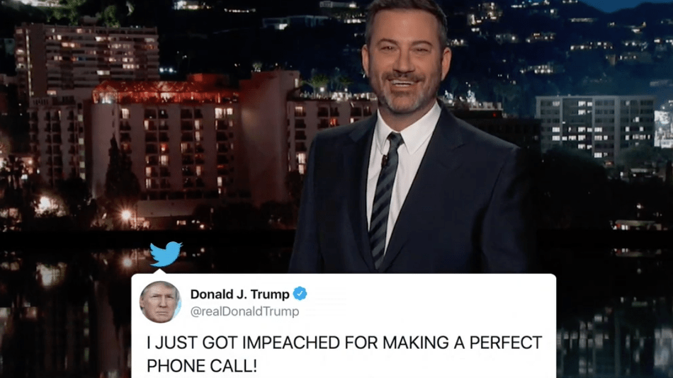 Jimmy Kimmel has fantasies about Trump's impeachment trial