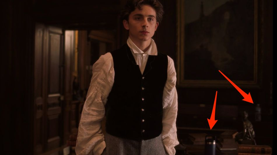 Oops! We all missed water bottles in the background of 'Little Women'