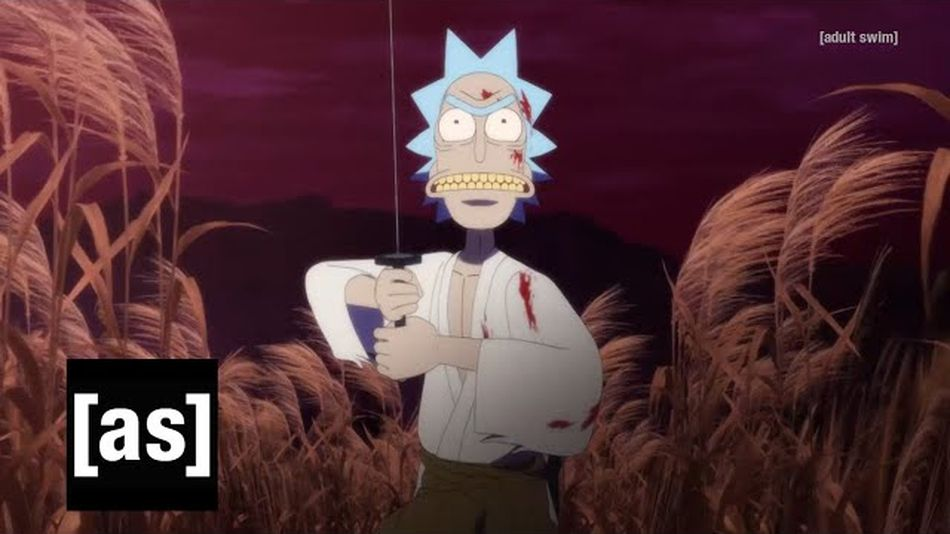 Watch Rick and Morty fight for their lives in anime short