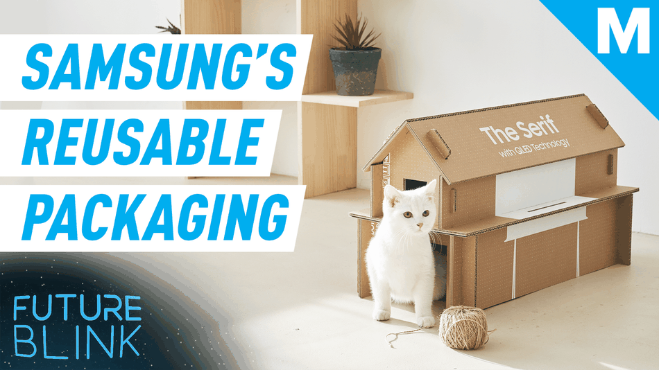 Samsung's new eco-packaging can be rebuilt into a cat house — Future Blink