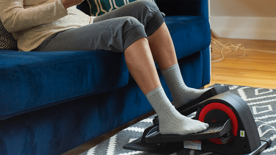 Work out while sitting on the couch with this cool gadget