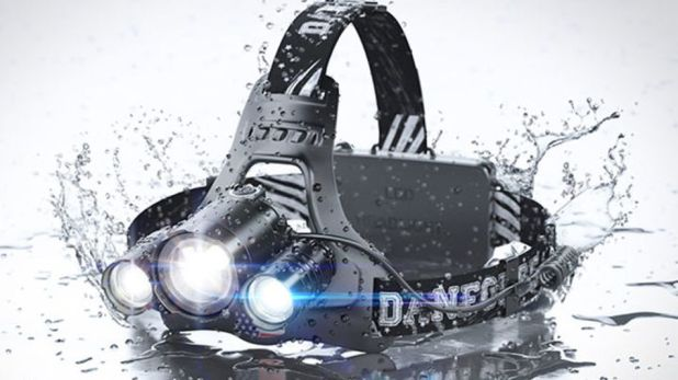 Gadgets: This DanForce headlamp has a 10-hour battery life.
