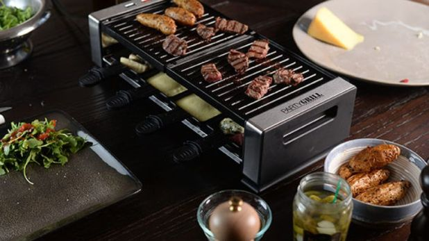 Gadgets: Use the Party Grill to prepare meat, vegetables, and more.