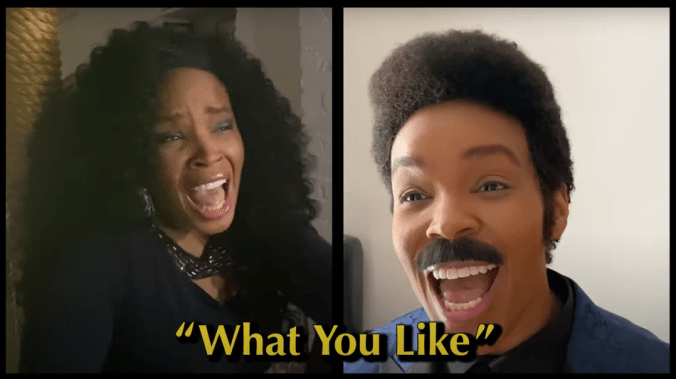 Amber Ruffin serenades herself with a mustache in 'Quarantine Love' infomercial sketch