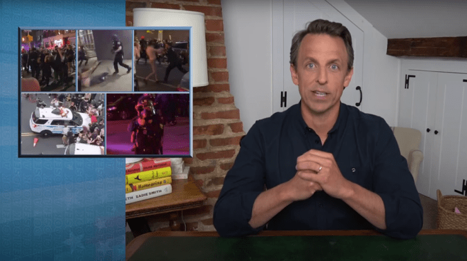 'America is broken': Seth Meyers slams police brutality and Trump's violent response to protests