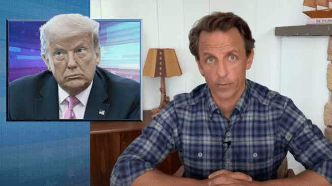 Seth Meyers sums up the 'cruel contrast' of Trump's America in 2 brutal minutes