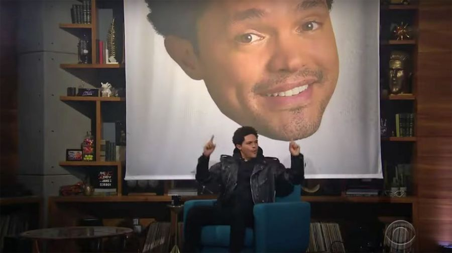 Trevor Noah's extravagant 'Late Late Show' entrance incurs the wrath of James Corden