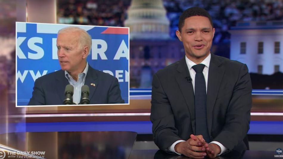 Here's 15 minutes of Trevor Noah cracking Joe Biden jokes