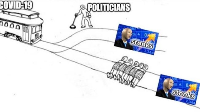 The trolley problem is the perfect meme for our government's pandemic response