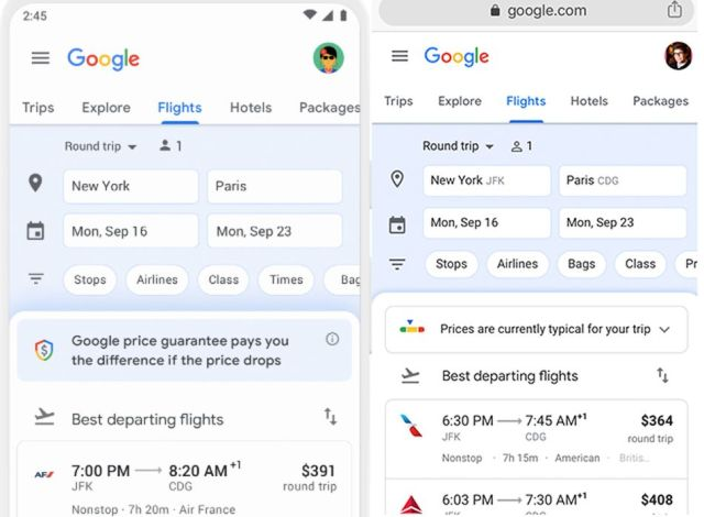 Left: Google's price guarantee. Right: Me, striking out