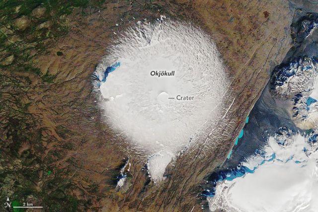 Okjökull in September 1986.