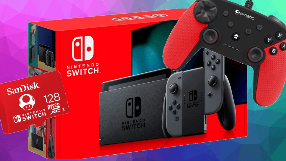 This Nintendo Switch bundle gets you a free SD card and controller