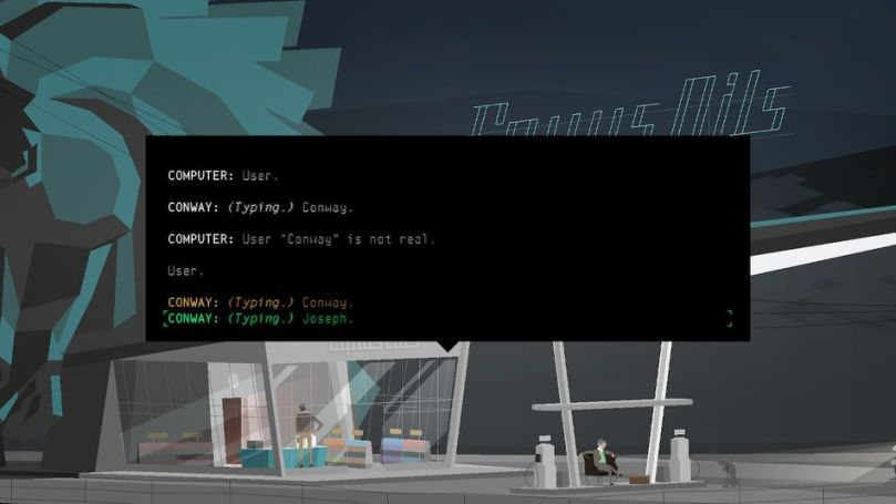 Strange text early in the game point to the odd nature of 'Kentucky Route Zero.'