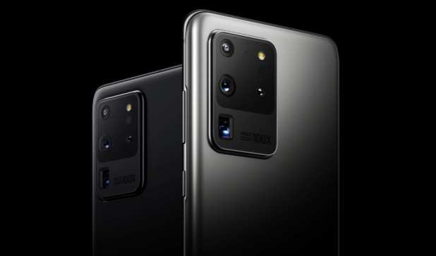 iPhone: On its website, Samsung prominently features the 108-megapixel camera -- but that one's only available on the $1,399 Samsung Galaxy S20 Ultra. The S20 and S20+ have a 64-megapixel main camera.