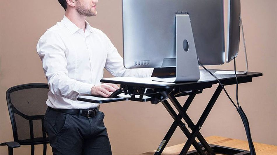 Working from bed is a bad idea, but this Flexispot standing desk is on sale