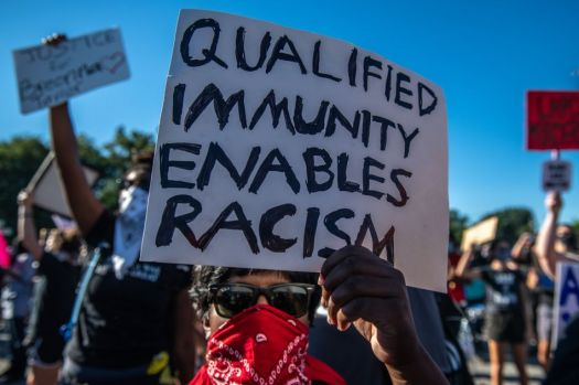 Qualified immunity allows police officers to get away with violating people's rights.