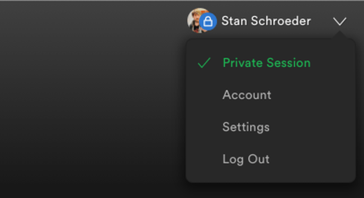 Private Session in Spotify won't leave any traces of what you listened to.