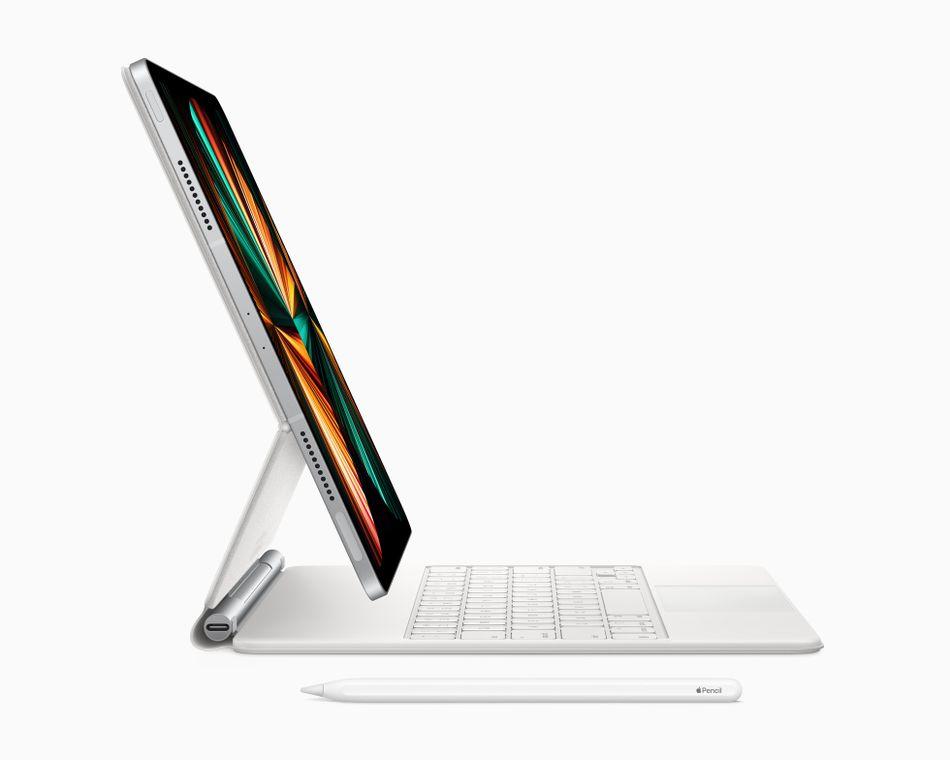 The new Magic Keyboard in white.