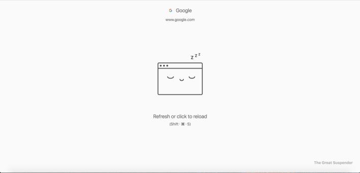 سوف يقوم Great Suspender بتسريع متصفح Chrome.