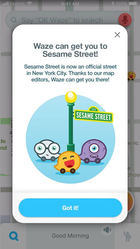 Mapearlo a Sesame Street.