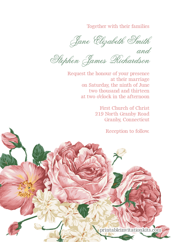 10 Free And Fabulous Printable Wedding Invitations