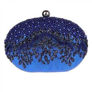 Bolso monedero de fiesta azul