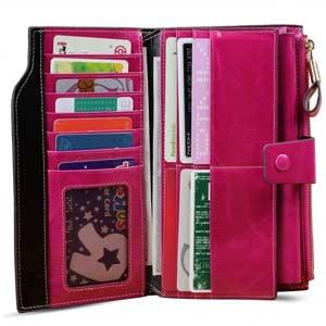 Cartera billetera de gran formato