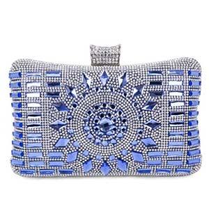 Baigio - Monedero bolso de fiesta, lentejuelas, azul