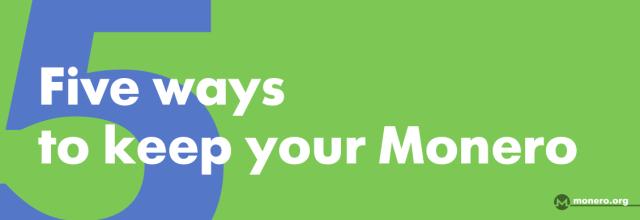 monero-org Five ways to keep your Monero safe news