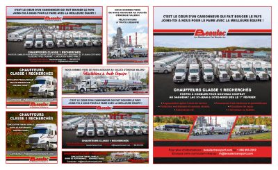 Publicités web et imprimées