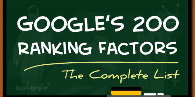 google 200 ranking factors