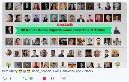 65 Social Media Experts Share Their Tips&Tricks