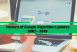 History of Google Algorithm Changes 2003 – 2019