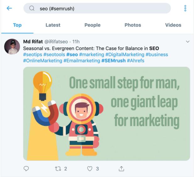 Twitter Advanced Search - SemRush