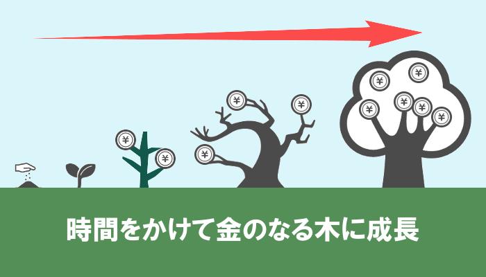 時間をかけて金のなる木に成長