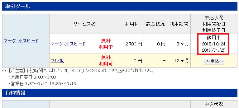 マーケットスピードの申請手順6