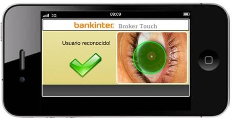 Bankinter iris scanning