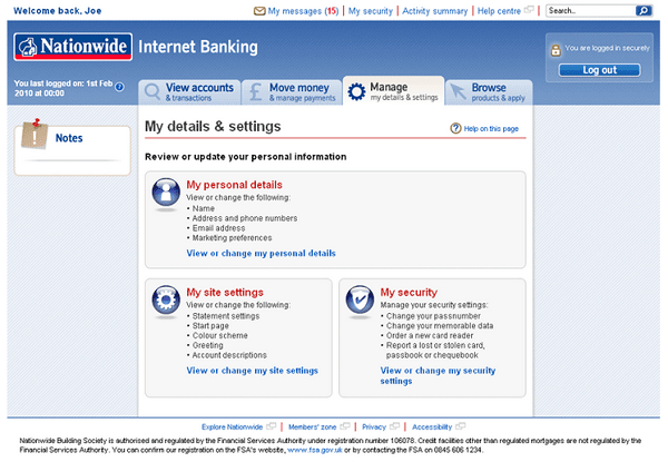 nationwide improving online banking money watch