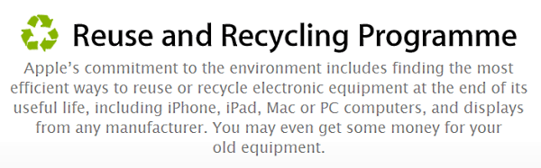 Apple Reuse & Recycling Programme