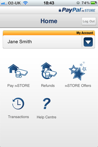 PayPal inStore App