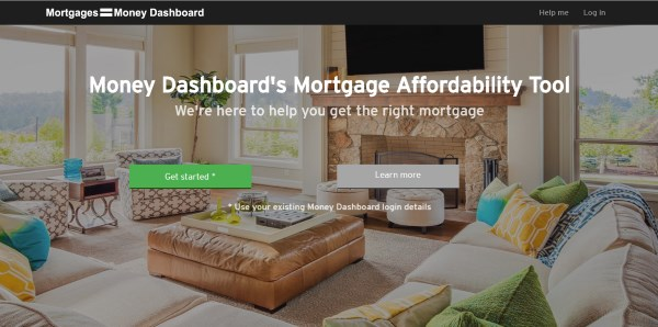 Money Dashboard mortgage calculator
