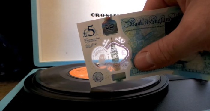 Vinyl played with a fiver