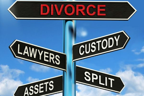 divorce sign post