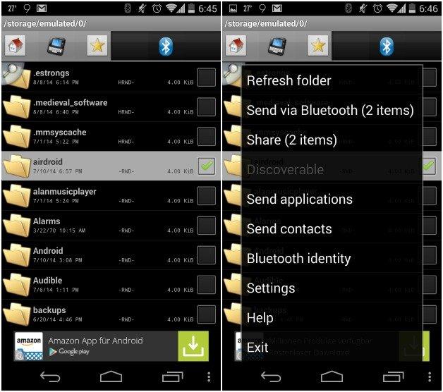 Как отправлять приложения через Bluetooth на сопряженное устройство на Android