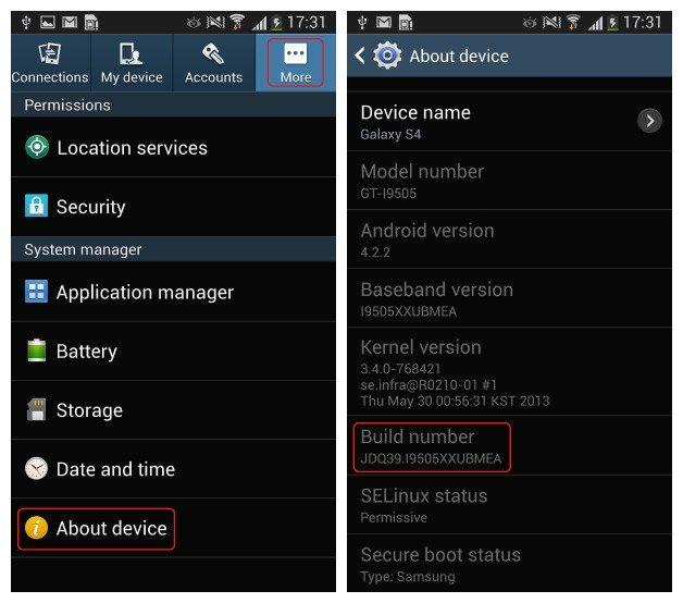 Android для начинающих: какой у меня номер прошивки?