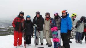 Sina, Raph, me, Phil, Iva & Anthony - at the top of the mountain before we made the terrifying journey down the slope!!!