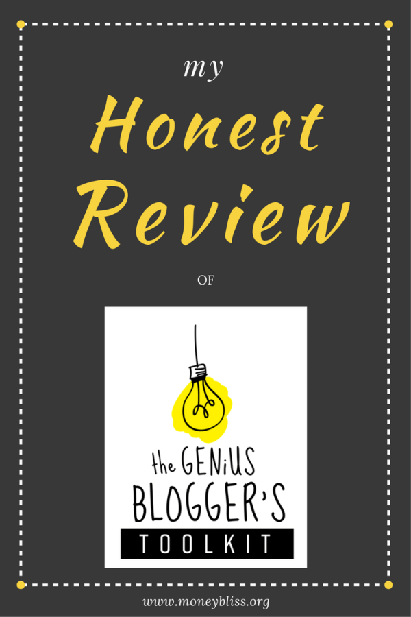 My Honest Review of Genius Blogger's Toolkit